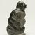 Elisapi Qumaluk (born 1927). <em>Kneeling Figure</em>, 1950-1980. Gray stone, 4 x 2 1/8 x 1 5/8 in. (10.2 x 5.4 x 4.1 cm). Brooklyn Museum, Hilda and Al Schein Collection, 2004.79.12. Creative Commons-BY (Photo: Brooklyn Museum, 2004.79.12_threequarter_right_PS11-1.jpg)