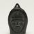 Samwillie Amidlak (1902-1984). <em>Janus-faced Amulet Head</em>, 1950-1980. Black stone, 2 3/4 x 1 7/8 x 3/4 in. (7 x 4.8 x 1.9 cm). Brooklyn Museum, Hilda and Al Schein Collection, 2004.79.19. Creative Commons-BY (Photo: Brooklyn Museum, 2004.79.19_view02_PS11.jpg)