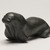 Davide Kasuolvak (born 1913). <em>Walrus</em>, 1950-1980. Soapstone, ivory, 3 1/4 x 3 x 6 3/4 in. (8.3 x 7.6 x 17.1 cm). Brooklyn Museum, Hilda and Al Schein Collection, 2004.79.7. Creative Commons-BY (Photo: Brooklyn Museum, 2004.79.7_threequarter_right_PS11.jpg)