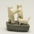 Tungilik. <em>Scene with Two Men and a Dog</em>, 1950-1980. Ivory, stone, 2 1/2 x 1 7/8 x 1 7/8 in. (6.4 x 4.8 x 4.8 cm). Brooklyn Museum, Hilda and Al Schein Collection, 2004.79.80. Creative Commons-BY (Photo: Brooklyn Museum, 2004.79.80_view02_PS11.jpg)