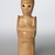 Sargent Claude Johnson (American, 1888-1967). <em>Untitled (Standing Woman)</em>, ca. 1933-1935. Terracotta, paint, surface coating, Overall: 14 1/4 x 4 x 3 1/2 in. (36.2 x 10.2 x 8.9 cm). Brooklyn Museum, Gift of the Estate of Emil Fuchs and Mr. and Mrs. Sidney Steinhauer, by exchange, Robert B. Woodward Memorial Fund, and Mary Smith Dorward Fund, 2010.2 (Photo: Brooklyn Museum, 2010.2_threequarter_PS6.jpg)
