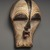 Songye. <em>Mask (Kifwebe)</em>, late 19th or early 20th century. Wood, pigment, 12 x 7 1/8 x 6 1/8 in. (30.5 x 18.1 x 15.6 cm). Brooklyn Museum, Collection of Beatrice Riese, 2011.4.2. Creative Commons-BY (Photo: Brooklyn Museum, 2011.4.2_threequarter_SL1_edited.jpg)