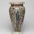 James Carr (American, 1820-1904). <em>Vase</em>, ca.1875. Glazed earthenware, 13 7/8 × 6 1/2 in. (35.2 × 16.5 cm). Brooklyn Museum, Harold S. Keller Fund, 2011.40.1. Creative Commons-BY (Photo: , 2011.40.1_view02_PS9.jpg)