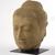<em>Head of a Buddha</em>, 13th-14th century. Sandstone, 32 x 22 x 20 in., 635 lb. (81.3 x 55.9 x 50.8 cm, 288.03kg). Brooklyn Museum, Gift of The Arthur M. Sackler Foundation, NYC, 2013.27 (Photo: Brooklyn Museum, 2013.27_threequarter_left_PS9.jpg)