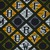 Vlisco B.V.. <em>Wax Print Textile, ABC Pattern</em>, ca. 2018. Cotton, synthetic dye, 36 × 36 in. (91.4 × 91.4 cm). Brooklyn Museum, Gift of Vlisco B.V., 2019.1.1 (Photo: , 2019.1.1_detail01_PS9.jpg)