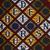 Vlisco B.V.. <em>Wax Print Textile, ABC Pattern</em>, ca. 2018. Cotton, synthetic dye, 36 × 36 in. (91.4 × 91.4 cm). Brooklyn Museum, Gift of Vlisco B.V., 2019.1.2 (Photo: , 2019.1.2_detail01_PS9.jpg)