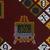 Vlisco B.V.. <em>Wax Print Textile, ABC Pattern</em>, ca. 2018. Cotton, synthetic dye, 36 × 36 in. (91.4 × 91.4 cm). Brooklyn Museum, Gift of Vlisco B.V., 2019.1.2 (Photo: , 2019.1.2_detail02_PS9.jpg)