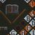 Vlisco B.V.. <em>Wax Print Textile, ABC Pattern</em>, ca. 2018. Cotton, synthetic dye, 36 × 36 in. (91.4 × 91.4 cm). Brooklyn Museum, Gift of Vlisco B.V., 2019.1.3 (Photo: , 2019.1.3_detail02_PS9.jpg)