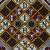 Vlisco B.V.. <em>Wax Print Textile, ABC Pattern</em>, ca. 2018. Cotton, synthetic dye, 36 × 36 in. (91.4 × 91.4 cm). Brooklyn Museum, Gift of Vlisco B.V., 2019.1.4 (Photo: , 2019.1.4_detail01_PS9.jpg)