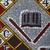 Vlisco B.V.. <em>Wax Print Textile, ABC Pattern</em>, ca. 2018. Cotton, synthetic dye, 36 × 36 in. (91.4 × 91.4 cm). Brooklyn Museum, Gift of Vlisco B.V., 2019.1.4 (Photo: , 2019.1.4_detail02_PS9.jpg)