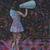 Derek Fordjour (American, born 1974). <em>Blue Horn</em>, 2017. Oil pastel, charcoal, acrylic, cardboard, and carved newspaper, mounted on canvas, 60 × 40 in., 85 lb. (152.4 × 101.6 cm, 38.56kg). Brooklyn Museum, Gift of Tiffany Hott, 2019.31. © artist or artist's estate (Photo: Brooklyn Museum, 2019.31_PS11.jpg)