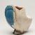 Suzuki Osamu (Japanese, 1926-2001). <em>Vessel</em>, ca. 1960. Glazed porcelain, 6 11/16 × 5 1/2 × 3 9/16 in. (17 × 14 × 9 cm). Brooklyn Museum, Partial gift of Steven Korff and Marcia Van Wagner and Bertram H. Schaffner Asian Art Fund, 2020.1.3 (Photo: Brooklyn Museum, 2020.1.3_threequarter_left_PS11.jpg)