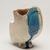 Suzuki Osamu (Japanese, 1926-2001). <em>Vessel</em>, ca. 1960. Glazed porcelain, 6 11/16 × 5 1/2 × 3 9/16 in. (17 × 14 × 9 cm). Brooklyn Museum, Partial gift of Steven Korff and Marcia Van Wagner and Bertram H. Schaffner Asian Art Fund, 2020.1.3 (Photo: Brooklyn Museum, 2020.1.3_threequarter_right_PS11.jpg)