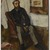 Edgar Degas (French, 1834-1917). <em>Portrait of a Man (Portrait d'homme)</em>, ca. 1866. Oil on canvas, 34 x 25 1/2 in. (86.4 x 64.8 cm). Brooklyn Museum, Museum Collection Fund, 21.112 (Photo: Brooklyn Museum, 21.112_PS9.jpg)