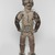 Kakongo artist. <em>Power Figure (Nkisi Nkondi)</em>, 19th century, with 20th century restoration. Wood, iron, glass, resin, kaolin, pigment, plant fiber, cloth, 33 7/8 x 13 3/4 x 11 in. (86 x 34.9 x 27.9 cm). Brooklyn Museum, Museum Expedition 1922, Robert B. Woodward Memorial Fund, 22.1421. Creative Commons-BY (Photo: , 22.1421_overall_PS9.jpg)