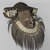 Kuba (Bushoong subgroup) artist. <em>Mask (Mwaash aMbooy)</em>, late 19th or early 20th century. Rawhide, paint, plant fibers, textile, cowrie shells, glass, wood, monkey pelt, feathers, 22 x 20 x 18 in. (55.9 x 50.8 x 45.7 cm). Brooklyn Museum, Museum Expedition 1922, Robert B. Woodward Memorial Fund, 22.1582. Creative Commons-BY (Photo: , 22.1582_threequarter_right_PS9.jpg)