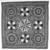 <em>Tent Square</em>, ca. 1870. Wool flannel, appliquéd, 54 x 54 in. (137.2 x 137.2 cm). Brooklyn Museum, Gift of Mrs. Joseph B. Whitney, 23.286. Creative Commons-BY (Photo: Brooklyn Museum, 23.286_bw.jpg)