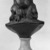Jean-Antoine Houdon (French, 1741-1828). <em>Bust of Benjamin Franklin</em>, ca. 1778. Bronze bust mounted on white marble base, 18 7/8 x 11 3/8 x 8 5/8 in. (47.9 x 28.9 x 21.9 cm). Brooklyn Museum, Gift of the executors of the Estate of Colonel Michael Friedsam, 32.690. Creative Commons-BY (Photo: Brooklyn Museum, 32.690_back_bw.jpg)