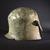 Greek. <em>Greek Helmet</em>, ca. 600 B.C.E. Bronze, 9 1/16in. (23cm). Brooklyn Museum, Charles Edwin Wilbour Fund, 34.692. Creative Commons-BY (Photo: Brooklyn Museum, 34.692_SL4.jpg)