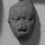 <em>Head</em>. Clay Brooklyn Museum, Ella C. Woodward Memorial Fund, 35.1792. Creative Commons-BY (Photo: Brooklyn Museum, 35.1792_acetate_bw.jpg)
