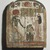 <em>Funerary Stela of Thenet</em>, ca. 945-712 B.C.E. Wood, stucco, pigment, 10 1/8 x 8 1/4 in. (25.7 x 21 cm). Brooklyn Museum, Charles Edwin Wilbour Fund, 37.1385E. Creative Commons-BY (Photo: Brooklyn Museum, 37.1385E.jpg)