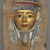 <em>Mask from a Coffin</em>, ca. 1938-1292 B.C.E. Cartonnage, 10 13/16 x 7 3/16 x 1 3/4 in. (27.5 x 18.2 x 4.5 cm). Brooklyn Museum, Charles Edwin Wilbour Fund, 37.1387E. Creative Commons-BY (Photo: Brooklyn Museum, 37.1387E_PS9.jpg)