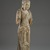 <em>Standing Bodhisattva</em>, 1115-1234. Wood, traces of polychrome, 56 5/16 x 18 1/2 x 10 5/8 in., 32 lb. (143 x 47 x 27 cm, 14.52kg). Brooklyn Museum, Brooklyn Museum Collection, 37.223. Creative Commons-BY (Photo: Brooklyn Museum, 37.223_threequarter_PS6.jpg)