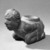 Mississippian. <em>Kneeling Figure Effigy Pipe</em>, 1400-1500. Stone, pigment, 4 13/16 x 6 11/16 x 3 3/8 in. (12.2 x 17 x 8.6 cm). Brooklyn Museum, Frank Sherman Benson Fund and the Henry L. Batterman Fund, 37.2802PA. Creative Commons-BY (Photo: Brooklyn Museum, 37.2802PA_acetate_bw.jpg)