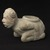 Mississippian. <em>Kneeling Figure Effigy Pipe</em>, 1400-1500. Stone, pigment, 4 13/16 x 6 11/16 x 3 3/8 in. (12.2 x 17 x 8.6 cm). Brooklyn Museum, Frank Sherman Benson Fund and the Henry L. Batterman Fund, 37.2802PA. Creative Commons-BY (Photo: Brooklyn Museum, 37.2802PA_profile_PS9.jpg)