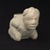 Mississippian. <em>Kneeling Figure Effigy Pipe</em>, 1400-1500. Stone, pigment, 4 13/16 x 6 11/16 x 3 3/8 in. (12.2 x 17 x 8.6 cm). Brooklyn Museum, Frank Sherman Benson Fund and the Henry L. Batterman Fund, 37.2802PA. Creative Commons-BY (Photo: Brooklyn Museum, 37.2802PA_threequarter_PS9.jpg)