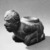 Mississippian. <em>Kneeling Figure Effigy Pipe</em>, 1400-1500. Stone, pigment, 4 13/16 x 6 11/16 x 3 3/8 in. (12.2 x 17 x 8.6 cm). Brooklyn Museum, Frank Sherman Benson Fund and the Henry L. Batterman Fund, 37.2802PA. Creative Commons-BY (Photo: , 37.2802PA_threequarter_front_left_view1_acetate_bw.jpg)
