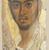 <em>Mummy Portrait of a Man</em>, ca. 120-130 C.E. Wood (Common cypress - Cupressus Sempervirens), encaustic, gold leaf, 17 1/4 x 7 3/4 x 1/16 in. (43.8 x 19.7 x 0.2 cm). Brooklyn Museum, Charles Edwin Wilbour Fund, 40.386 (Photo: Brooklyn Museum, 40.386_edited_SL1.jpg)