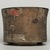 Teotihuacan. <em>Cylindrical Tripod Vessel</em>, ca. 550-650. Ceramic, stucco, pigment, 3 13/16 x 4 13/16 x 4 13/16 in. (9.7 x 12.2 x 12.2 cm). Brooklyn Museum, A. Augustus Healy Fund, 44.3. Creative Commons-BY (Photo: Brooklyn Museum, 44.3_view04_PS11.jpg)
