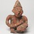 Nayarit. <em>Figurine of a Man</em>, 100 BCE - 200 CE. Ceramic, pigment, 9 1/2 x 6 1/2 x 5 1/2 in. (24.1 x 16.5 x 14 cm). Brooklyn Museum, Frank L. Babbott Fund, 47.186.1. Creative Commons-BY (Photo: Brooklyn Museum, 47.186.1_overall_PS9.jpg)