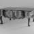 <em>Low Estrado Table</em>, second half 18th century. Mahogany, 20 1/2 x 50 x 28 1/2 in. (52.1 x 127 x 72.4 cm). Brooklyn Museum, Frank L. Babbott Fund, Frank Sherman Benson Fund, Carll H. de Silver Fund, A. Augustus Healy Fund, Caroline A.L. Pratt Fund, Charles Stewart Smith Memorial Fund, and Ella C. Woodward Memorial Fund, 48.206.10. Creative Commons-BY (Photo: Brooklyn Museum, 48.206.10_bw.jpg)
