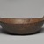 Delaware. <em>Bowl</em>, early 19th century. Wood, brass, 7 1/4 x 14 x 14 in. (18.4 x 35.6 x 35.6 cm). Brooklyn Museum, Henry L. Batterman Fund and the Frank Sherman Benson Fund, 50.67.161. Creative Commons-BY (Photo: Brooklyn Museum, 50.67.161_view01_PS11.jpg)