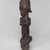 An Ntem River Valley Master. <em>Reliquary Guardian Figure (Eyema-o-Byeri)</em>, mid-18th to mid-19th century. Wood, iron, 23 × 5 3/4 × 5 in. (58.4 × 14.6 × 12.7 cm). Brooklyn Museum, Frank L. Babbott Fund, 51.3. Creative Commons-BY (Photo: , 51.3_threequarter_left_PS9.jpg)
