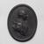 Wedgwood & Bentley (1768-1780). <em>Medallion,  George III</em>, ca.1780. Basaltes, 3 1/4 × 1/2 × 4 1/8 in. (8.3 × 1.3 × 10.5 cm). Brooklyn Museum, Gift of Emily Winthrop Miles, 55.9.7b. Creative Commons-BY (Photo: , 55.9.7b_PS9.jpg)