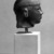 Egyptian. <em>Head of a Kushite Ruler</em>, ca. 716-702 B.C.E. Green schist, 2 3/4 x 2 1/16 x 2 9/16 in. (7 x 5.3 x 6.5 cm). Brooklyn Museum, Charles Edwin Wilbour Fund, 60.74. Creative Commons-BY (Photo: Brooklyn Museum, 60.74_NegB_bw_SL4.jpg)