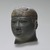 Egyptian. <em>Head of a Kushite Ruler</em>, ca. 716-702 B.C.E. Green schist, 2 3/4 x 2 1/16 x 2 9/16 in. (7 x 5.3 x 6.5 cm). Brooklyn Museum, Charles Edwin Wilbour Fund, 60.74. Creative Commons-BY (Photo: Brooklyn Museum, 60.74_PS2.jpg)