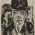 Max Beckmann (German, 1884-1950). <em>Self-Portrait in Bowler Hat (Selbstbildnis mit steifem Hut)</em>, 1921. Drypoint on laid paper, Image (Plate): 12 1/2 x 9 7/16 in. (31.8 x 24 cm). Brooklyn Museum, Gift of The Louis E. Stern Foundation, Inc., 64.101.350. © artist or artist's estate (Photo: , 64.101.350_PS9.jpg)