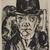 Max Beckmann (German, 1884-1950). <em>Self-Portrait in Bowler Hat (Selbstbildnis mit steifem Hut)</em>, 1921. Drypoint on laid paper, Image (Plate): 12 1/2 x 9 7/16 in. (31.8 x 24 cm). Brooklyn Museum, Gift of The Louis E. Stern Foundation, Inc., 64.101.350. © artist or artist's estate (Photo: , 64.101.350_PS9.jpg)
