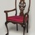 <em>Armchair</em>, 1750-1800. Mahogany, upholstery, 40 1/4 x 25 1/4 x 17 3/4in. (102.2 x 64.1 x 45.1cm). Brooklyn Museum, Gift of Robert W. Dowling, 64.243.6. Creative Commons-BY (Photo: Brooklyn Museum, 64.243.6_PS11.jpg)