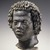 "Ancient Near Eastern. <em>Head of a Man with Tight, Curly Hair</em>, late 2nd century B.C.E. Marble, ""Bigio Morata"", 11 x 7 11/16 x 7 1/2 in. (28 x 19.5 x 19 cm). Brooklyn Museum, Charles Edwin Wilbour Fund, 70.59. Creative Commons-BY (Photo: Brooklyn Museum, 70.59_SL1.jpg)"