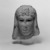 <em>Head of a Queen</em>, 305-30 B.C.E. Marble, 5 5/16 x 4 5/16 x 4 3/4 in. (13.5 x 11 x 12 cm). Brooklyn Museum, Charles Edwin Wilbour Fund, 71.12. Creative Commons-BY (Photo: Brooklyn Museum, 71.12_bw.jpg)