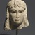 <em>Head of a Queen</em>, 305-30 B.C.E. Marble, 5 5/16 x 4 5/16 x 4 3/4 in. (13.5 x 11 x 12 cm). Brooklyn Museum, Charles Edwin Wilbour Fund, 71.12. Creative Commons-BY (Photo: Brooklyn Museum, 71.12_front_PS1.jpg)