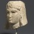 <em>Head of a Queen</em>, 305-30 B.C.E. Marble, 5 5/16 x 4 5/16 x 4 3/4 in. (13.5 x 11 x 12 cm). Brooklyn Museum, Charles Edwin Wilbour Fund, 71.12. Creative Commons-BY (Photo: Brooklyn Museum, 71.12_threequarter_left_PS1.jpg)