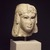 <em>Head of a Queen</em>, 305-30 B.C.E. Marble, 5 5/16 x 4 5/16 x 4 3/4 in. (13.5 x 11 x 12 cm). Brooklyn Museum, Charles Edwin Wilbour Fund, 71.12. Creative Commons-BY (Photo: Brooklyn Museum, 71.12_transp2453.jpg)
