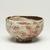 Kitaoji Rosanjin (Japanese, 1883-1959). <em>Tea Bowl</em>, ca. 20th century. Stoneware, white underglaze, red to deep orange mottled overglaze, 3 x 4 3/4 in. (7.6 x 12.1 cm). Brooklyn Museum, Gift of Bernice and Robert Dickes, 72.162.1. Creative Commons-BY (Photo: Brooklyn Museum, 72.162.1_view01_PS11.jpg)