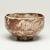 Kitaoji Rosanjin (Japanese, 1883-1959). <em>Tea Bowl</em>, ca. 20th century. Stoneware, white underglaze, red to deep orange mottled overglaze, 3 x 4 3/4 in. (7.6 x 12.1 cm). Brooklyn Museum, Gift of Bernice and Robert Dickes, 72.162.1. Creative Commons-BY (Photo: Brooklyn Museum, 72.162.1_view02_PS11-1.jpg)